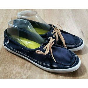 Vans Womens Surf Siders Blue Sneakers Size 9.5